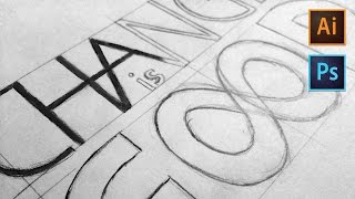 Learn How to Draw Lettering Using Your Pencil & Adobe Illustrator | Dansky