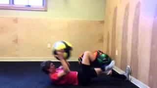 COREFX Wall Ball Knee Strike–Single, Single, Double Combo