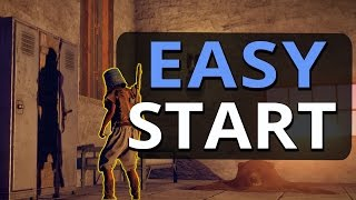 EASY FAST START ON WIPE DAY!! Rust Solo Survival S13 Ep1