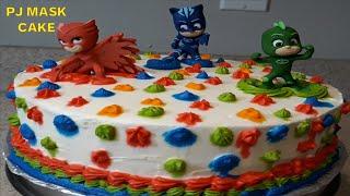 PJ Masks Cake with Tips &amp Tricks   Chocolate Cake Recipe  PJ Mask Cakes for Kids Birthday at Home