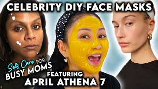 Celebrity DIY Beauty Masks ft. Mindy Kaling, Hailey Bieber, &amp More!  Self Care For Busy Moms