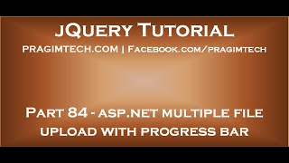 asp net multiple file upload with progress bar