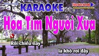 Hoa Tím Người Xưa Karaoke 123 HD - Nhạc Sống Tùng Bách
