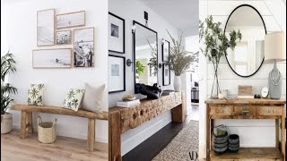 50 Console Decorating Ideas 2019#Modern Console Table With Mirror Ideas#Wooden Console Table decor