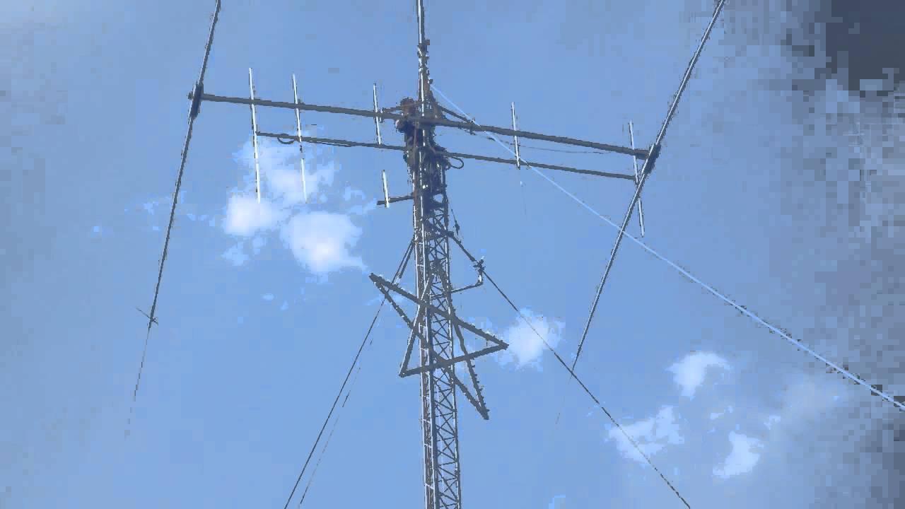 Tramming 2el 40M beam off of tower