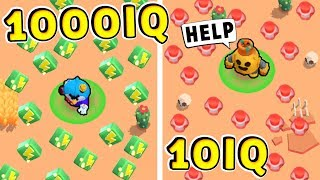 TROLL 1000 IQ vs NOOB 10 IQ !!! Funny Moments Brawl Stars #28