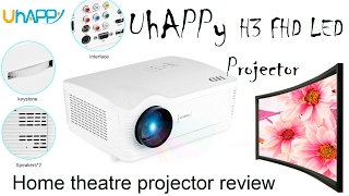 UhAPPy H3 FHD LED Projector - Test, In depth review (Home theatre, Movie, White, Cheap, 1080i)