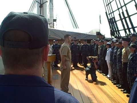 Master Chief Leads USS Constitution Crew in Sailors