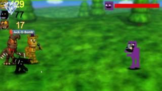 FNaF World Civil War Фиолетовый Человек И Сломанный Бонни