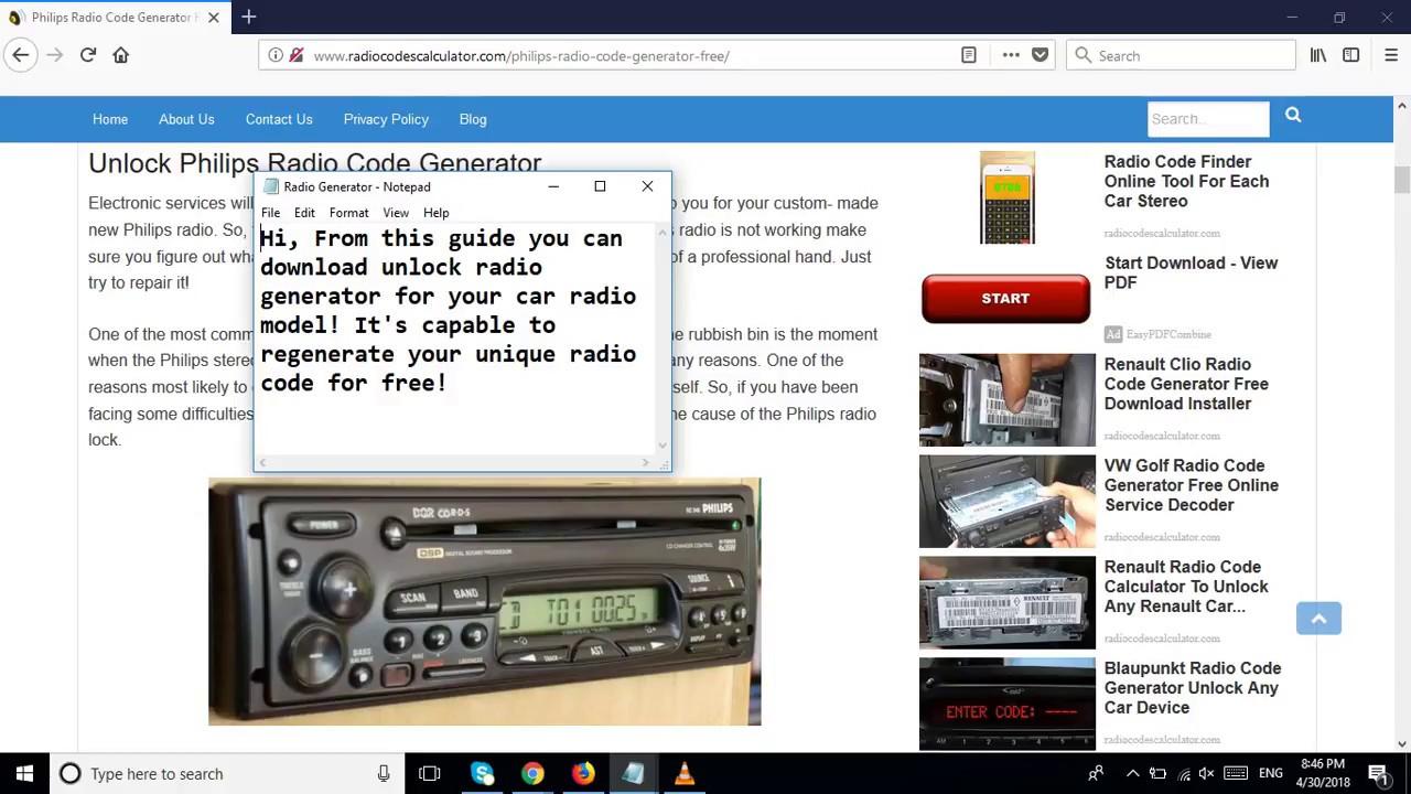 Philips Radio Code Generator Free Service Works Online