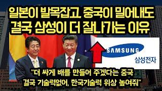 일본과 중국이 삼성을 견제하고 추격하는 상황에도, 결국 삼성이 더 잘나가게 된 이유