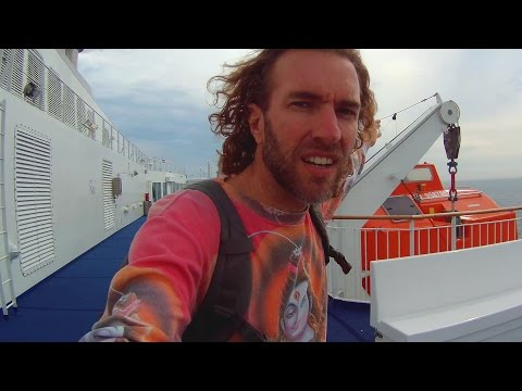 Tour of a Ferry Boat in Europe: Denmark to Germany