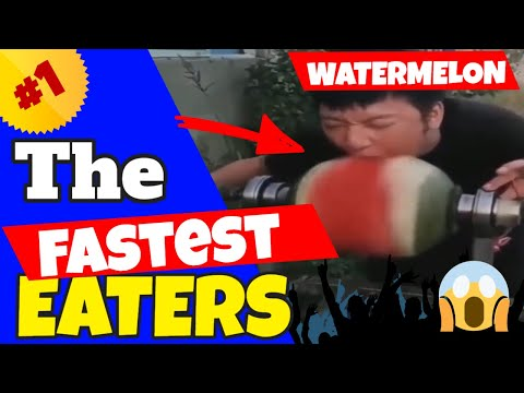 The Fastest Eaters Compilation #8 (Eat This Watermelon in 1 Second)