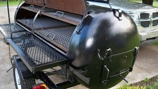250 Gallon Smoker Barbecue Grill.smoking Homemade.. For Sale
