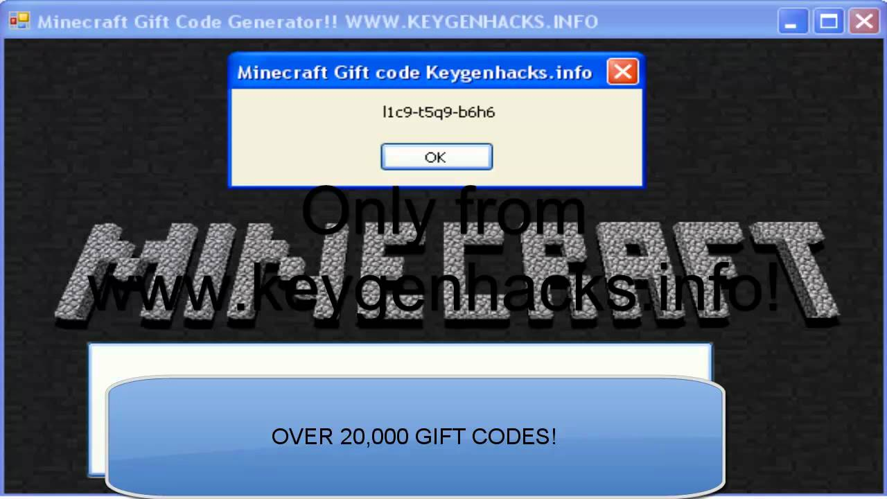 Jan 2013 Minecraft Gift Code Generator Free And Legit Minecraft For Free Youtube