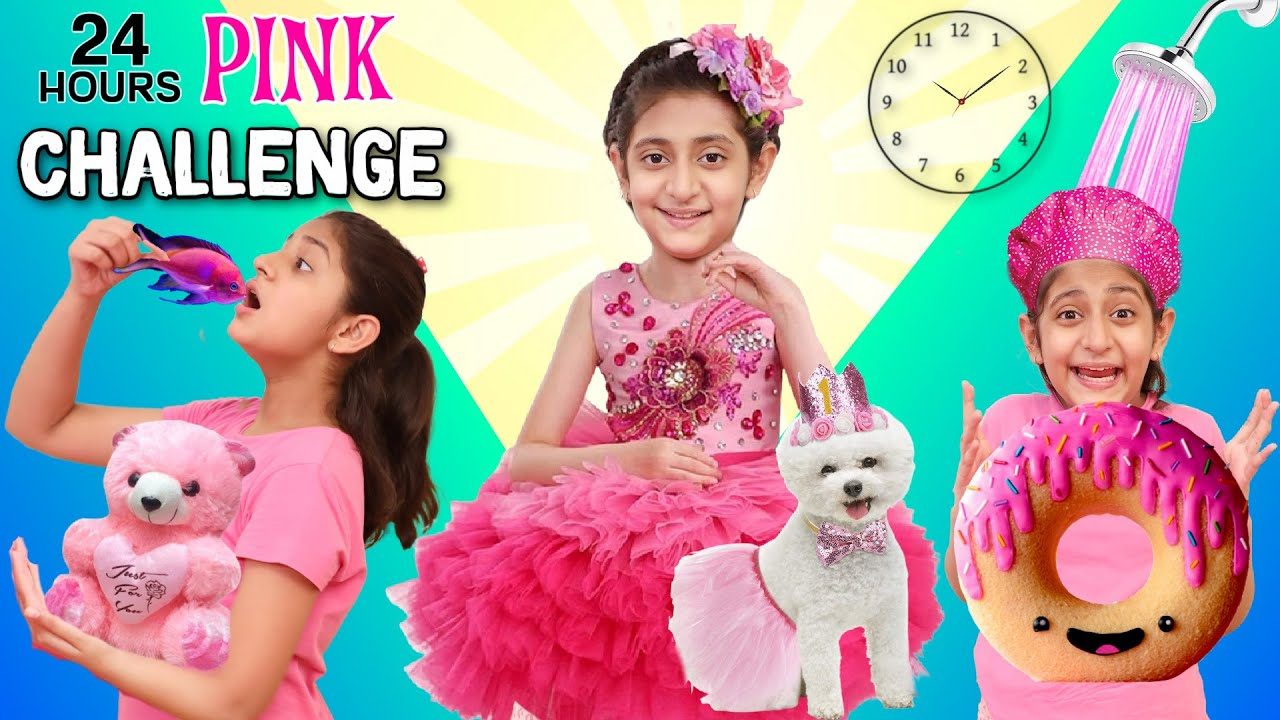 Download 24 Hour Living in A PINK WORLD With My Pet Challenge   MyMissAnand