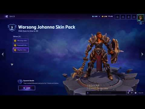 Warsong Johanna Skin Pack | Heroes Of The Storm | New Skin Pack