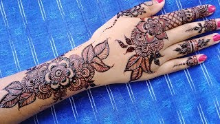 Simple Easy Floral Leaf mehndi designs - Shimmi