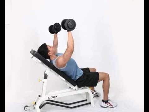 Gerakan Latihan Otot Dada - Incline Dumbbell Bench Press