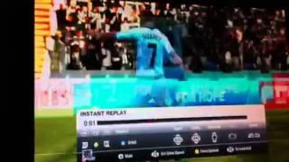 Amazing Andy Carroll Goal on FIFA 12