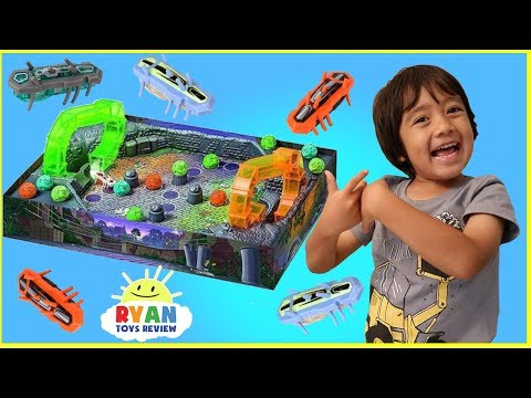 Thumbnail: Hex Bug Buggaloop Family Fun Games for Kids with Kinder Egg Surprise Toys opening