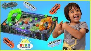 Hex Bug Buggaloop Family Fun Games for Kids with Kinder Egg Surprise Toys opening
