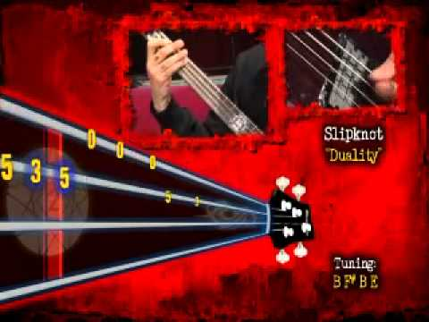 Slipknot - Paul Gray Behind The Player - Duality video tab