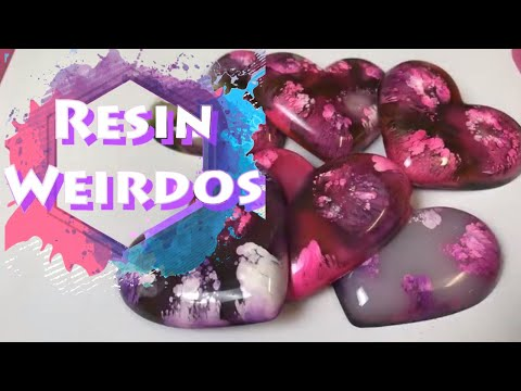 Watch Me Resin - Alcohol Ink Resin - Epoxy Resin Puffy Hearts - Charms - Ideas