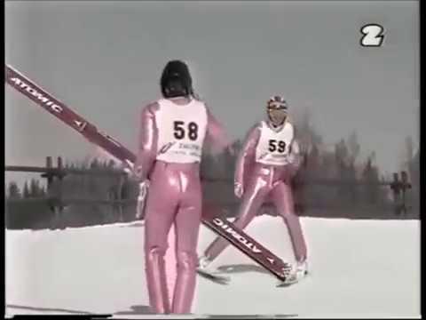 Adam Małysz nie daje rady Mistrzostwa Polski w skokach narciarskich 1998