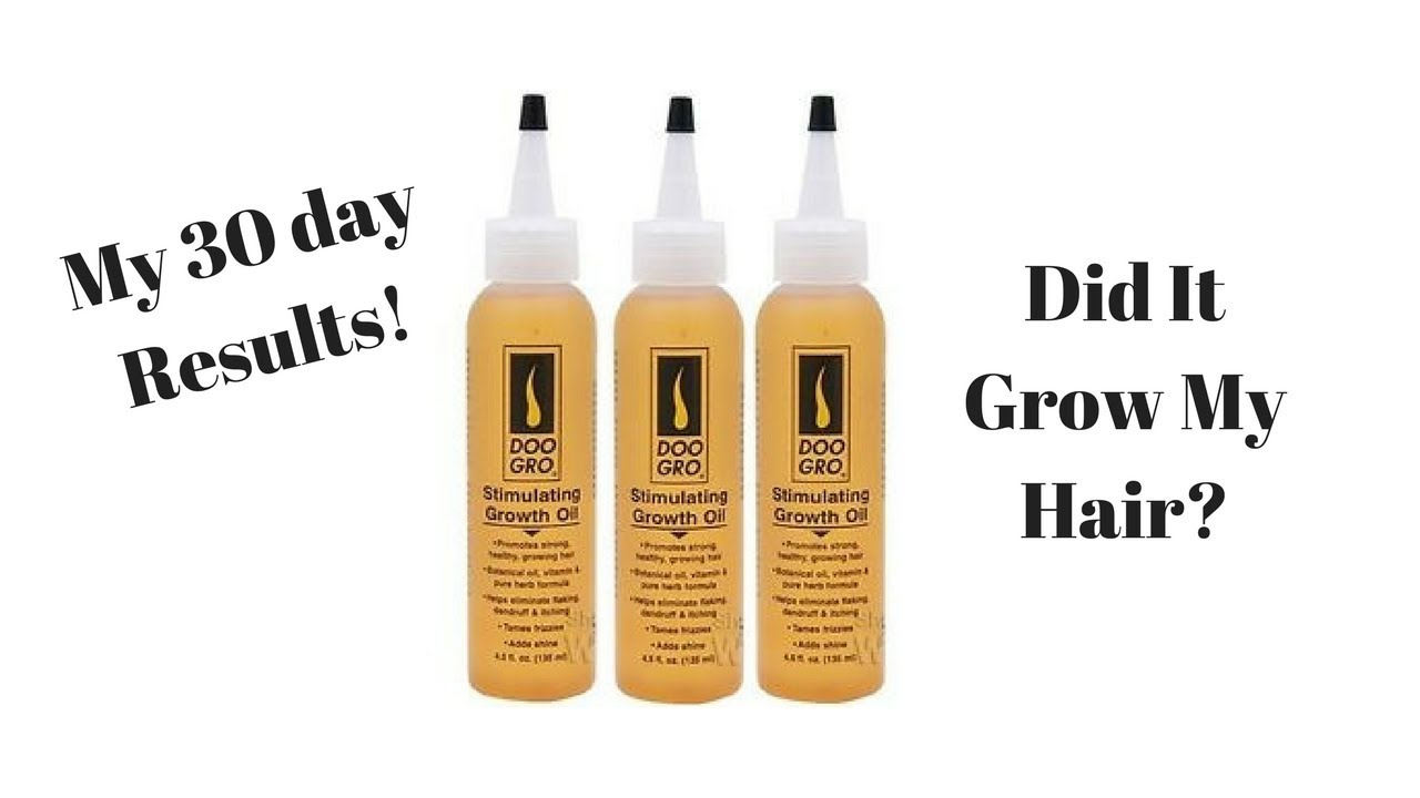 Doo Gro Stimulating Growth Oil One Month Update 30 Day Results