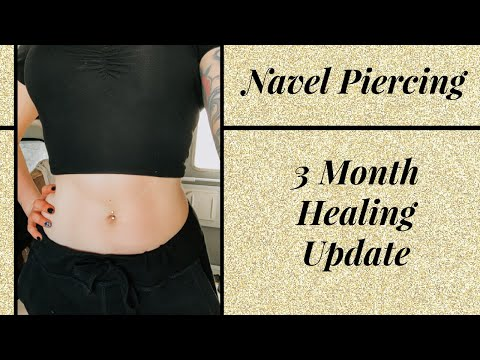 Navel Piercing - 3 Month Update - Crooked Jewelry, Bump, Skin Irritation, Downsizing, Aftercare