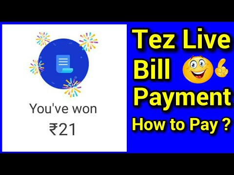 Tez Live Bill Payment With Proof In Hindi !! How To Pay Bill On Tez !!