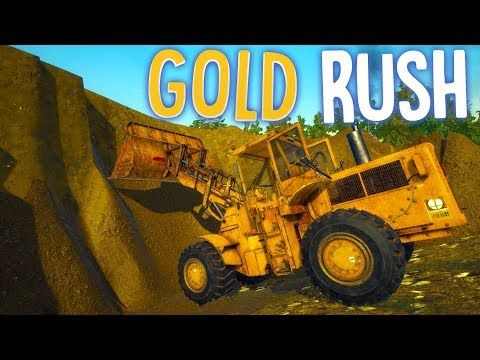 Gold Rush - Deep Pit Gold Digging! - New Mine Site & A Bulldozer - Gold Rush The Game Gameplay