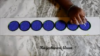 Simple Border Rangoli Designs Using Bangles