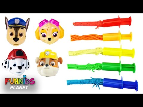 Thumbnail: Learning Play Doh Colors Video for Children - Paw Patrol Chase & Skye Mission Paw Patrol Match