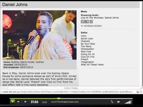 Daniel Johns VIVID Sydney Opera House - FULL SHOW 29/05/2015