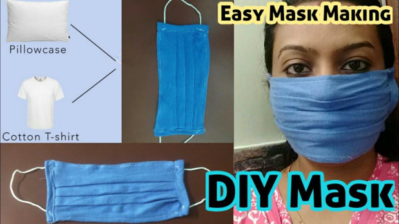 Mask Making   How to make mask to prevent Corona virus?  DIY mask   Easy Mask at home  Corona mask