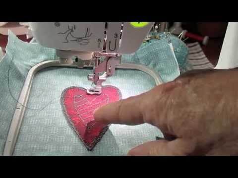 How To Make A Heart Using Appliqu 233 Embroidery On The