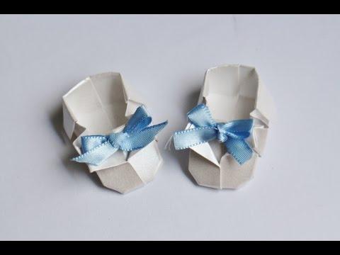 Origami Tutorial Sapatinho De Bebe
