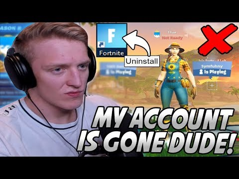 "Tfue Was FORCED To STOP Using His ""Tfue"" Account & Had To UNINSTALL Fortnite..."