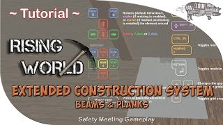 rising World  Tutorial  How to Use the Extended Construction System (Beams & Planks)