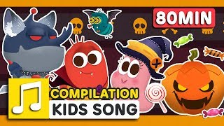 TRICK OR TREAT and other songs   HAPPY HALLOWEEN   80 min   LARVA KIDS   Nursery Rhyme for kids