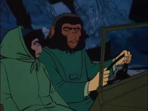 regreso al planeta de los simios serie animada ( capitulo 12)