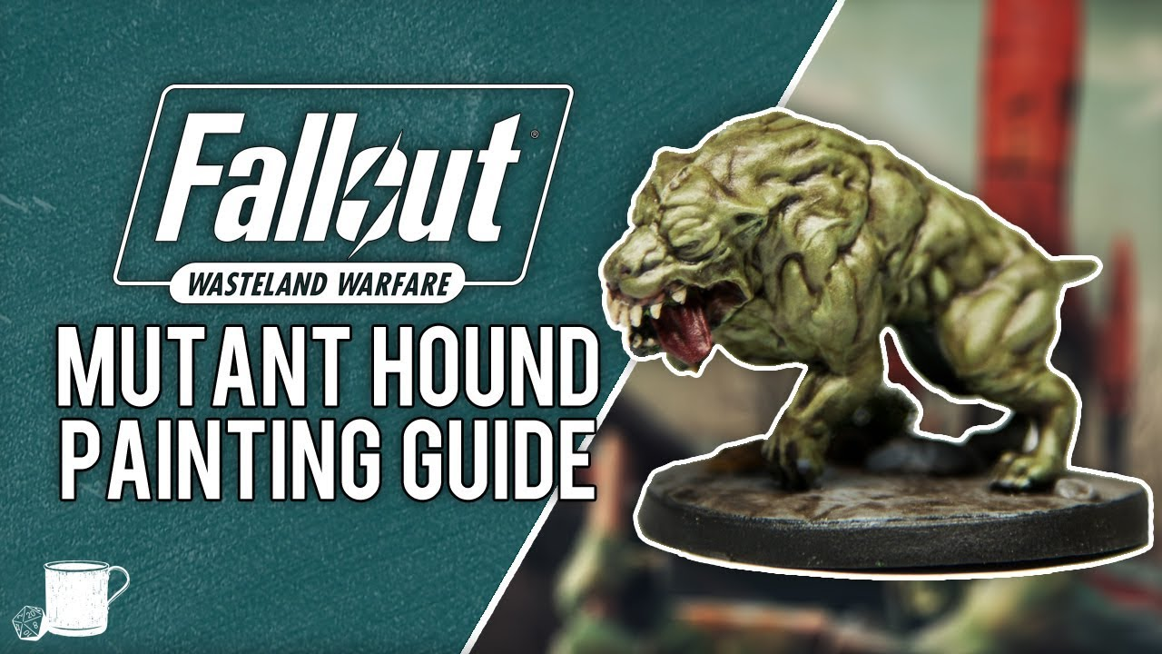 Super Mutant Hounds Painting Tutorial from Fallout Wasteland Warfare