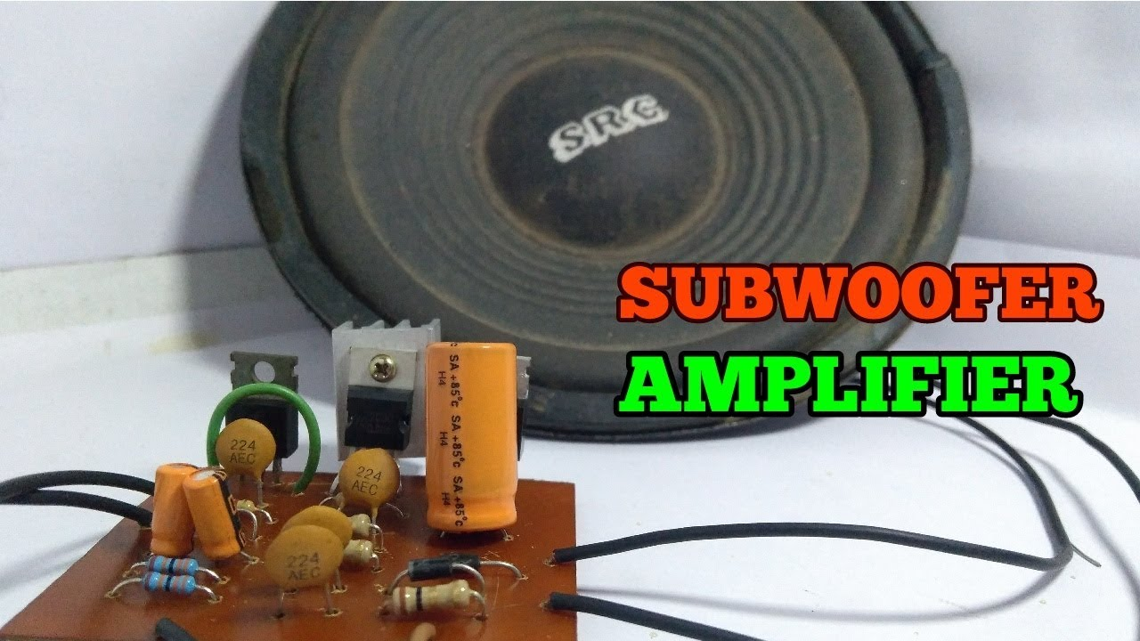 how to make subwoofer amplifier circuit simple use ic tda2030 [ 1280 x 720 Pixel ]