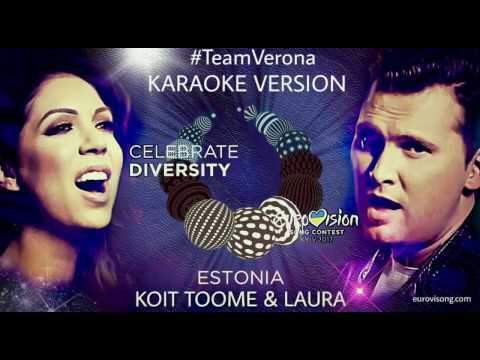 Koit Toome & Laura - Verona (Karaoke Version) Eurovision Estonia 2017