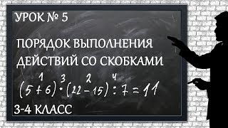 Изучаем математику с нуля / Урок № 5 / Порядок выполнения действий со скобками