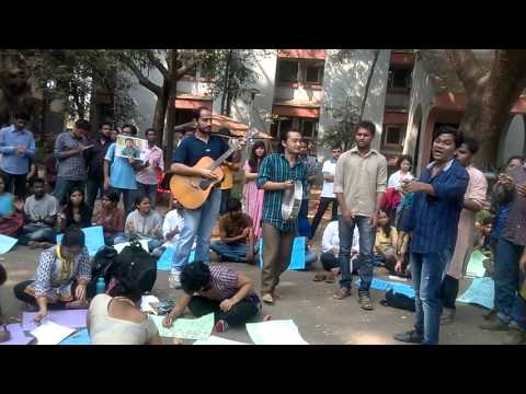 DAY LONG PROTEST AGAINST THE INSTITUTIONAL MURDER OF ROHITH VEMULA, HCU JOINT ACTION COMMITTEE, TISS