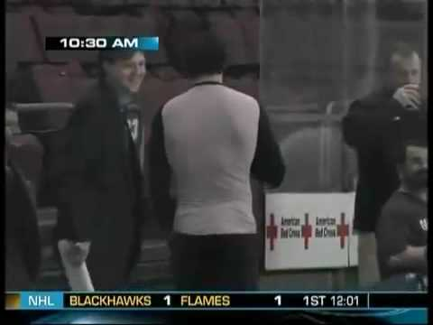 Alex Ovechkin spying on the Rangers morning skate!