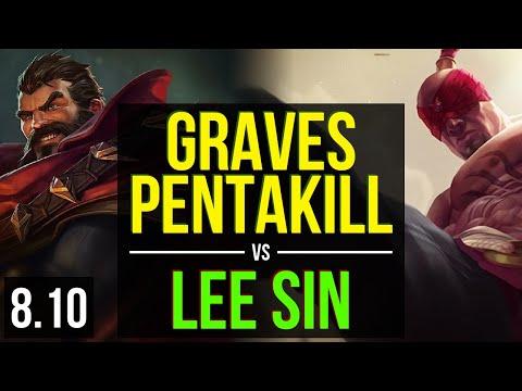GRAVES vs LEE SIN JUNGLE ~ Pentakill, Legendary ~ Korea Master ~ Patch 810